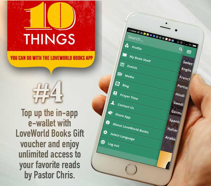 LoveWorld Books Mobile App by Pastor Chris Oyakhilome