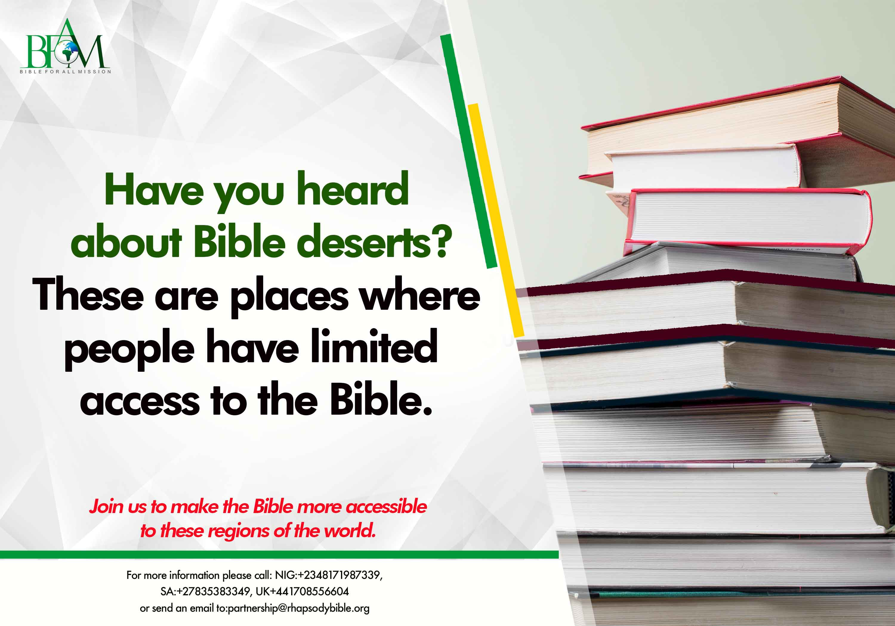 Have you heard about Bible deserts_